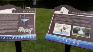 New interpretive markers at the Fallasburg village.