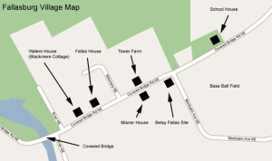 Map of the pioneer Fallasburg village.