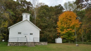 The one-room schoolhouse is open on Sundays.