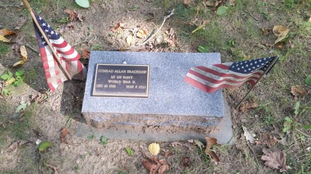 Veterans at Fallasburg. WWii veteran Conrad Alan Bradshaw.