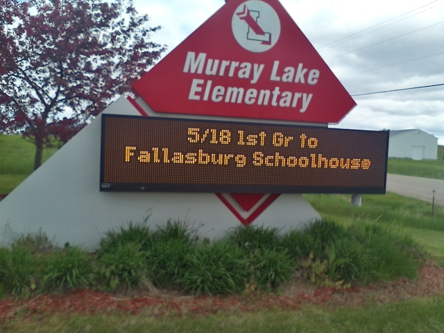 Murray Lake first graders will visit Fallasburg Schoolhouse on Wednesday.