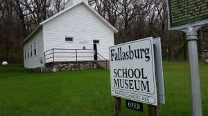 Fallasburg one-room school.