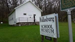 Fallasburg one-room school.
