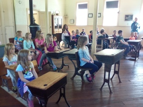 Murray Lake Elementary students at the Fallasburg school.