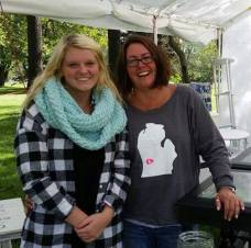 Fallasburg vendors Michelle Emaus with daughter