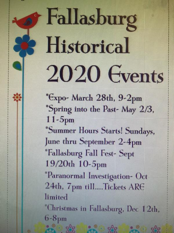 Fallasburg events poster